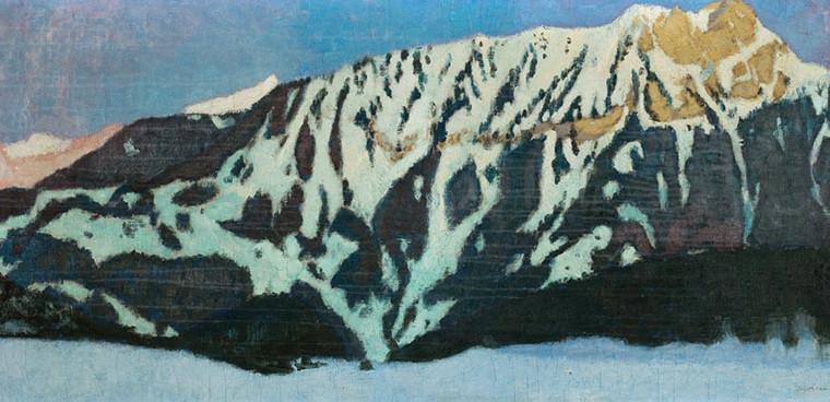 Edouard Morerod, peintre: Chamossaire, huile sur toile, vers 1915.