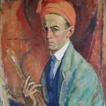 Edouard Morerod: autoportrait au turban rouge. Musée cantonal des Beaux-Arts, Lausanne.