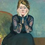 Femme au chemisier, Edouard Morerod, peintre