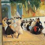 «Flamenco», école de danse, (1908), Edouard Morerod, peintre