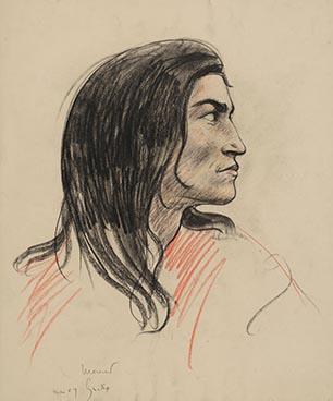 Gitan de profil, 1909, Edouard Morerod, peintre