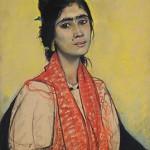 Jeune gitane au grain de beauté, 1913, Edouard Morerod, peintre