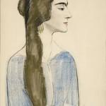 La dame admirable, 1918, Edouard Morerod, peintre