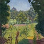 Le jardin, Edouard Morerod, peintre