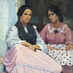 Les deux sœurs, Edouard Morerod, peintre