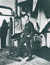 Edouard Morerod dans son atelier de la rue de la Tour, à Paris, dans le XVIe arr.