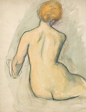 Nu de dos, Edouard Morerod, peintre