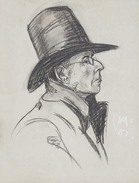 Portrait d'un marchand ambulant, Paris 1907, Edouard Morerod, peintre