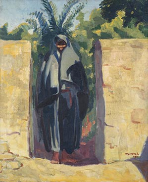 Sur le seuil, 1911, Edouard Morerod, peintre