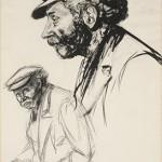 Vieillard à la casquette, étude, Edouard Morerod, peintre