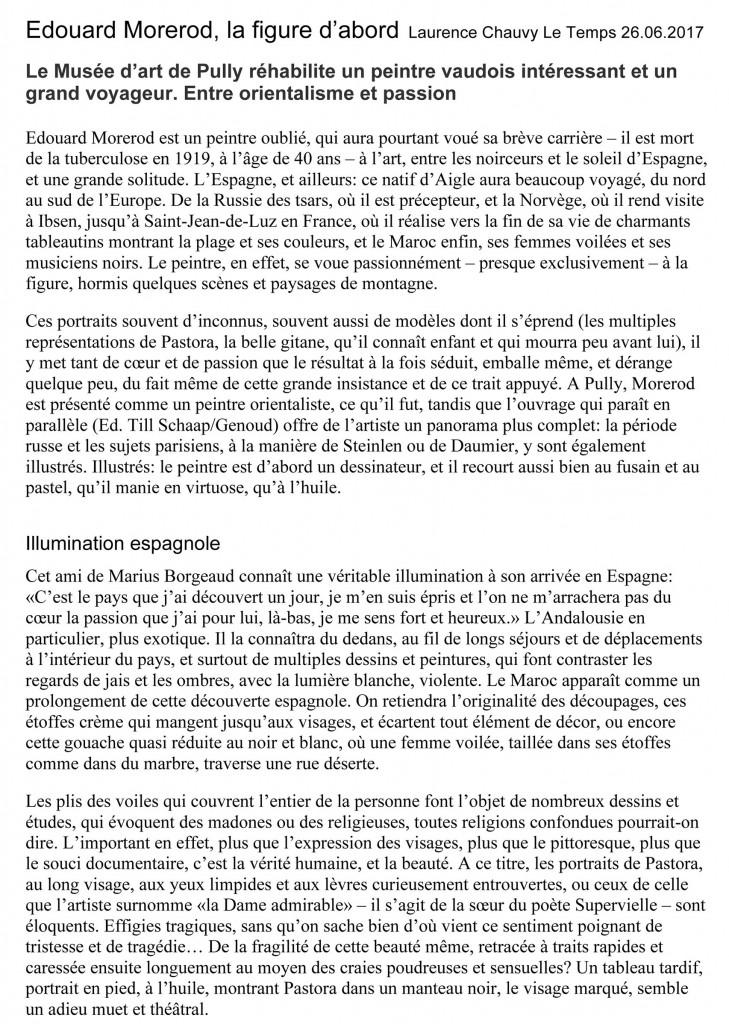 Edouard Morerod. Le Temps